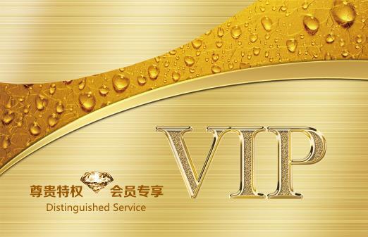 尊贵黄金VIP卡设计模板下载