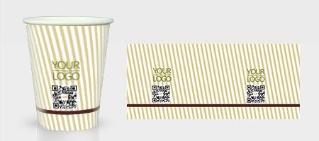 黄色古色古香纸杯模板下载